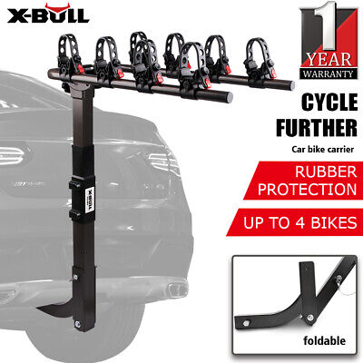 AU114.90 • Buy X-BULL 4 Bike Rack Bicycle Carrier Car Rear 2  TowBar Foldable Hitch Mount Steel