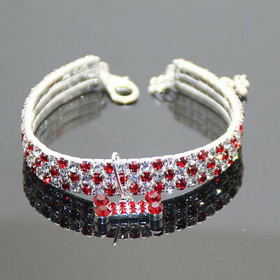 £4.99 • Buy Bling Rhinestone Crystal Dog Cat Necklace Collar Diamante Pendant For Pet Puppy