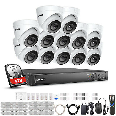 ANNKE 16CH 4K 8MP NVR HD 1080p Dome CCTV IP Camera Security POE System IP67 4TB • 729.49£