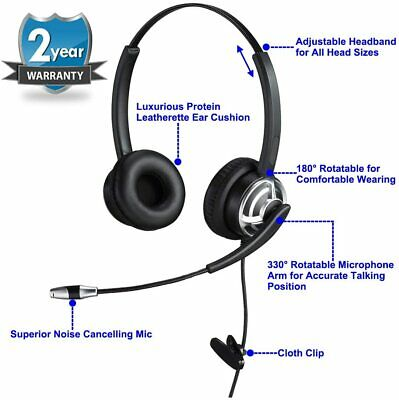 USB Headset With Noise Cancelling Microphone Dual Ear Skype Headset With Speech • 44.99£