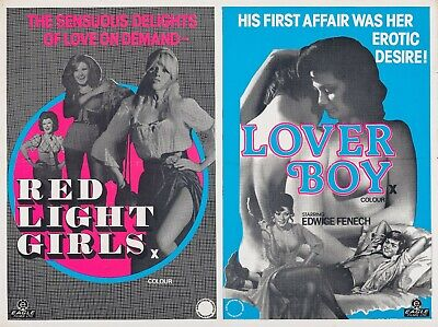 Red Light Girls / LoverBoy Repro UK Combo Quad Poster 30x40  Adult Edwige Fenech • 24.99£