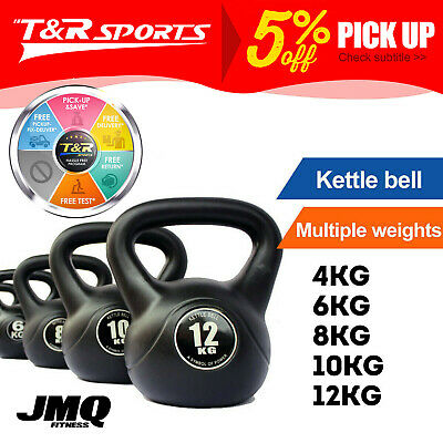 AU50.99 • Buy JMQ 4-12KG Kettlebell Kettle Bell Weight Exercise Home Gym Workout*