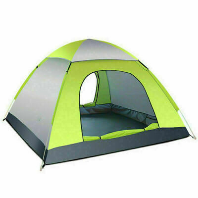 AU55.96 • Buy 3-4 Man Person Pop Up Tent Family Festival Camping Auto Hiking Beach Dome Tent