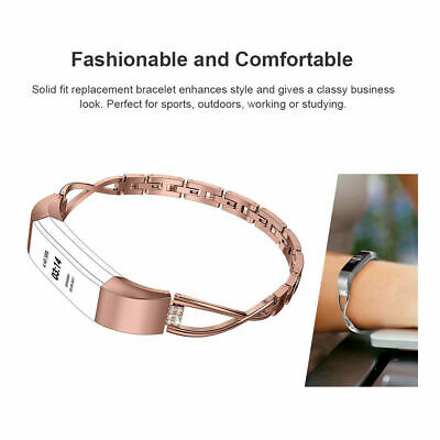 AU18.99 • Buy Bling Stainless Steel Bracelet Watch Band Jewelry Strap Belt For Fitbit Alta HR