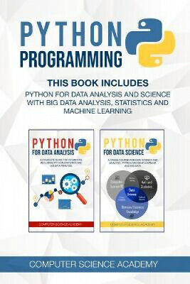 AU25.96 • Buy Python Programming: This Book Includes: Python For Data Analysis And Science