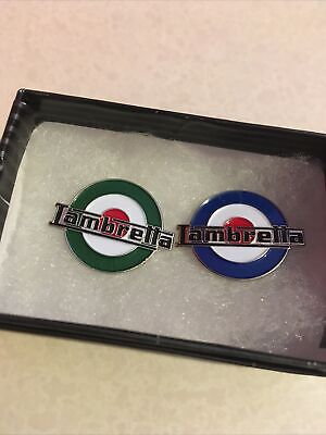 £5 • Buy Pin Badges X2 A Lovely Pair Of Round Lambretta Badges
