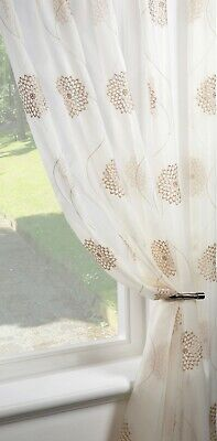 £7.99 • Buy CLEARANCE   Dahlia Gold  Single Voile Patterned Panels Slot Top - Free Postage