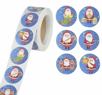 £2.95 • Buy Christmas Xmas Stickers 25mm Round Labels Gift Seal Love Santa Snow Tree Party
