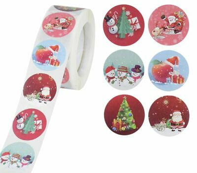 £2.95 • Buy Christmas Xmas Stickers 25mm Round Labels Gift Seal Santa Claus Snow Tree Party