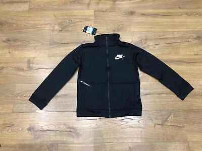 Nike Sportswear Boys Tracksuit Jacket Full Zip Track Top Black Size M 10-12Years • 27.99£