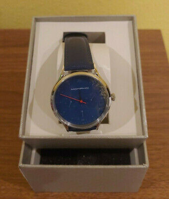 $89.60 • Buy Morphic M65 Series Blue Dial Men's Watch 6506 Blue Leather Band NIB