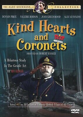 Kind Hearts And Coronets 1949 DVD Ealing Comedy Reg. 1 Alec Guinness Collection • 12.99£