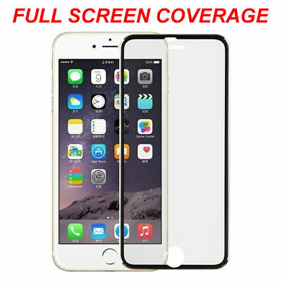 Full Screen Cover Tempered Glass Screen Protector Glass For Apple IPhone 6s 7 8 • 1.29£