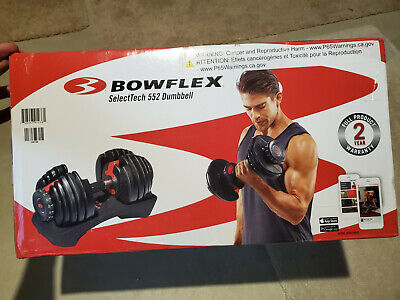 $ CDN376.59 • Buy NEW Bowflex SelectTech 552 Adjustable Single Dumbbell - FAST FREE SHIPPING