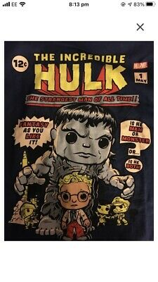 INCREDIBLE HULK ORIGINAL HULK COMIC COVER Marvel Collector Corps T-Shirt NAVY • 8£
