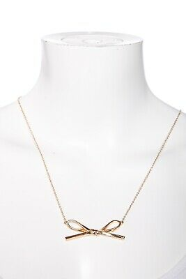 $ CDN42.82 • Buy KATE SPADE Gold Tone Bow Pendant Necklace Fashion Jewelry Lobster Clasp Chain