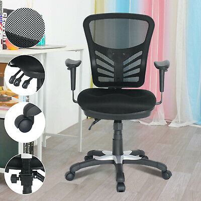 AU69.99 • Buy  Gaming Office Chair Computer Chairs Mesh Back Foam Seat Black Work Study