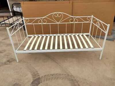£72.99 • Buy Austin White Metal Bed Frame Day Bed 3ft Single Sofa Guest Bed