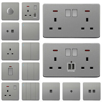 £12.53 • Buy Light Switches & Sockets Single/ Double Plug Decorative Mains With / Without USB