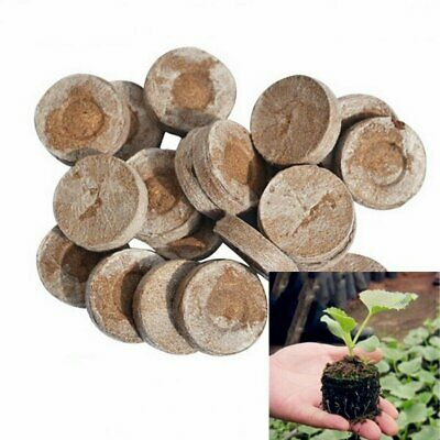 100pcs Jiffy 7 Peat Pellets 38mm Compost Plug Seed Starter Propagation Pellets • 14.99£