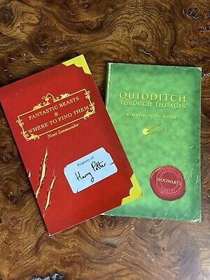 $ CDN170.44 • Buy Harry Potter - 2 School Books QUIDDITCH & FANTASTIC BEASTS - UK 1st/1st Editions