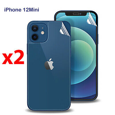 AU6.99 • Buy X2 Soft PET Film Screen Protector Guard For Apple IPhone 12 Mini Front And Back