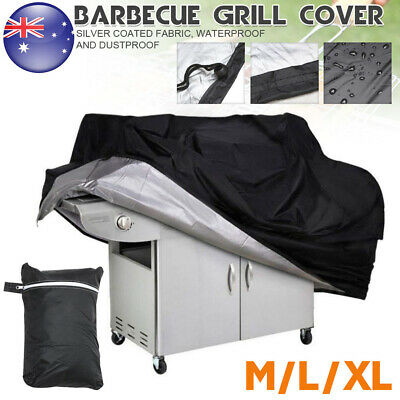 AU21.59 • Buy BBQ Cover 2/4/6 Burner Waterproof Outdoor Gas Charcoal Barbecue Grill Protector