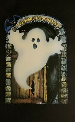 $ CDN24.93 • Buy 1980 Vintage Hallmark Halloween Ghost W Bat Die Cut -