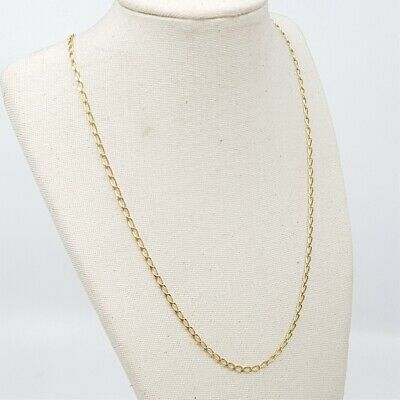 AU175 • Buy 9ct 2.5gr Yellow Gold Chain Necklace 45cm #52720 **