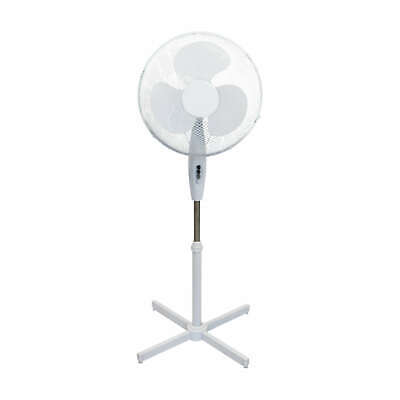"""Deco 16/"""" Electric Oscillating Standing Fan Office Home Cool Tower Stand Floor UK"""