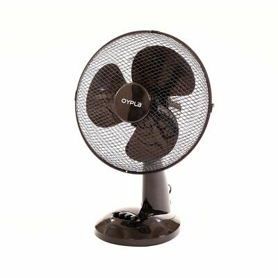 NEW! 12  3 Speed Oscillating Black Electric Desk Home Office Fan • 16.99£