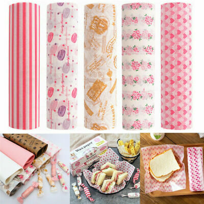 £4.79 • Buy 50Pcs Food Wrapping Wax Paper Oilpaper Greaseproof Baking Sandwich Packing Paper
