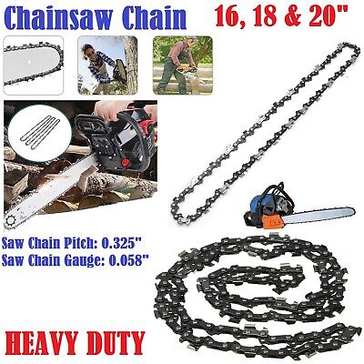 16/18/20  Heavy Duty Electric Kings Bar Chainsaw Chain Precision Cutting Cutter • 8.25£