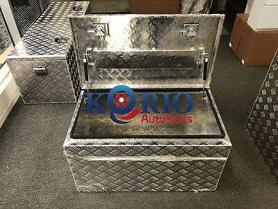 AU350 • Buy Aluminium Top Open Toolbox 900x500x500mm Rectangular UTE TRUCK TRAILER Tool Box