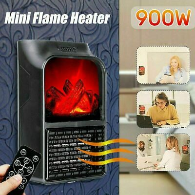 900W Electric Fireplace Log Burning Fire Flame Effect Stove Heater Freestanding • 11.99£