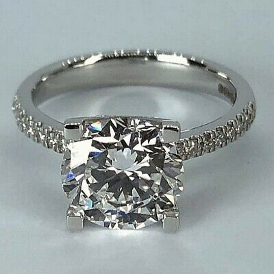 £6799 • Buy GIA Cert. 3.04 Ct Diamond Engagement Solitaire Ring Real 18 K (750) White Gold.