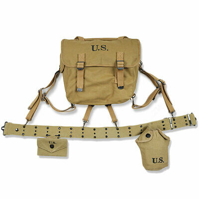 $99.79 • Buy WWII US Army M1936 Suspenders Belt M1936 Field Bag Strap First Aid Packet Cover