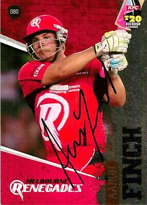 AU11.99 • Buy ✺Signed✺ 2012 2013 MELBOURNE RENEGADES BBL Cricket Card AARON FINCH