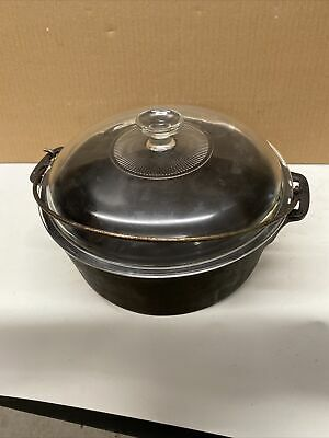 $ CDN76.11 • Buy Wagner Ware Cast Iron Dutch Oven  5 Qt  A-9-94   With Pyrex Glass Lid