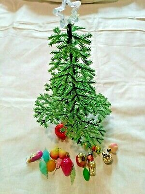$ CDN37.88 • Buy Soviet Vintage Mini Christmas Tree With Decorations 1970s Little MALYTKA
