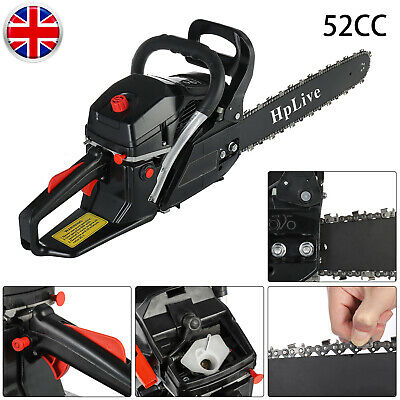 52cc Black Orange 2800W Petrol Gasoline Chainsaw Saw Wood Cutting Tool Kit • 70.99£