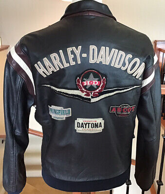 $ CDN190.31 • Buy HARLEY DAVIDSON Men's Size 2XL Black Leather Bomber Jacket With Quilted Liner