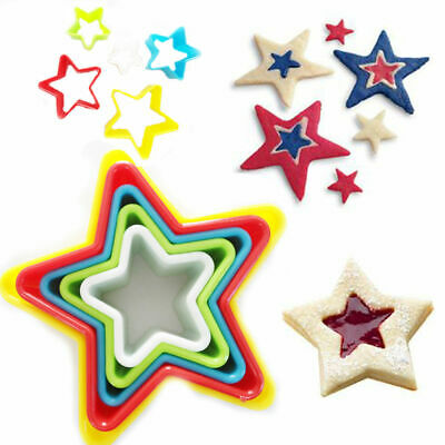£5.49 • Buy Plastic Cookie Cutters Dough Scone Star Shape Pastry Bake Playdough Set 5 Pack