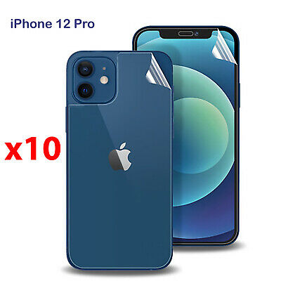 AU29.99 • Buy X10 Soft PET Film Screen Protector Guard For Apple IPhone 12 PRO Front And Back