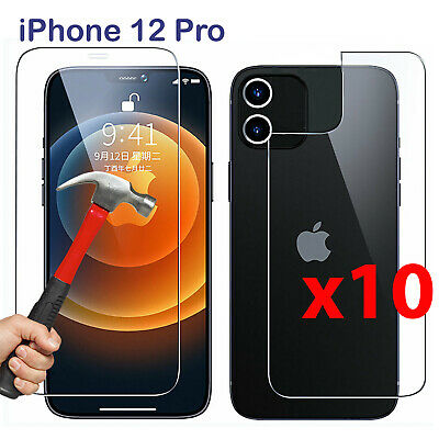 AU39.99 • Buy X10 Tempered Glass Screen Protector For Apple IPhone 12 PRO Front And Film Back