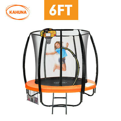 AU610.07 • Buy Kahuna Trampoline 6ft With Basketball Set - Orange