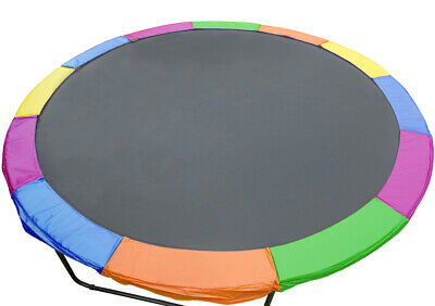 AU84.57 • Buy Replacement Trampoline Pad  Outdoor Round Spring Cover 8 Ft - Rainbow