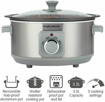 £39.99 • Buy Morphy Richards Sear & Stew 3.5 Litre Aluminium Slow Cooker, One-Pot Solution