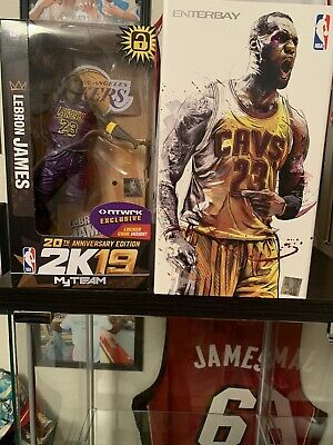 $200 • Buy LeBron James Enterbay NBA 1/9 Action Figure Cleveland Cavaliers And Lakers 2k19