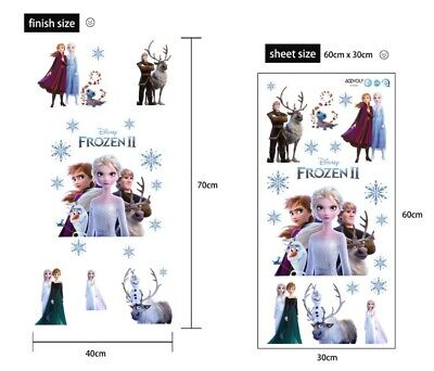 £5.89 • Buy Removable Frozen 2 Elsa Anna Olaf Wall Sticker Decal Baby Kids Girls Room